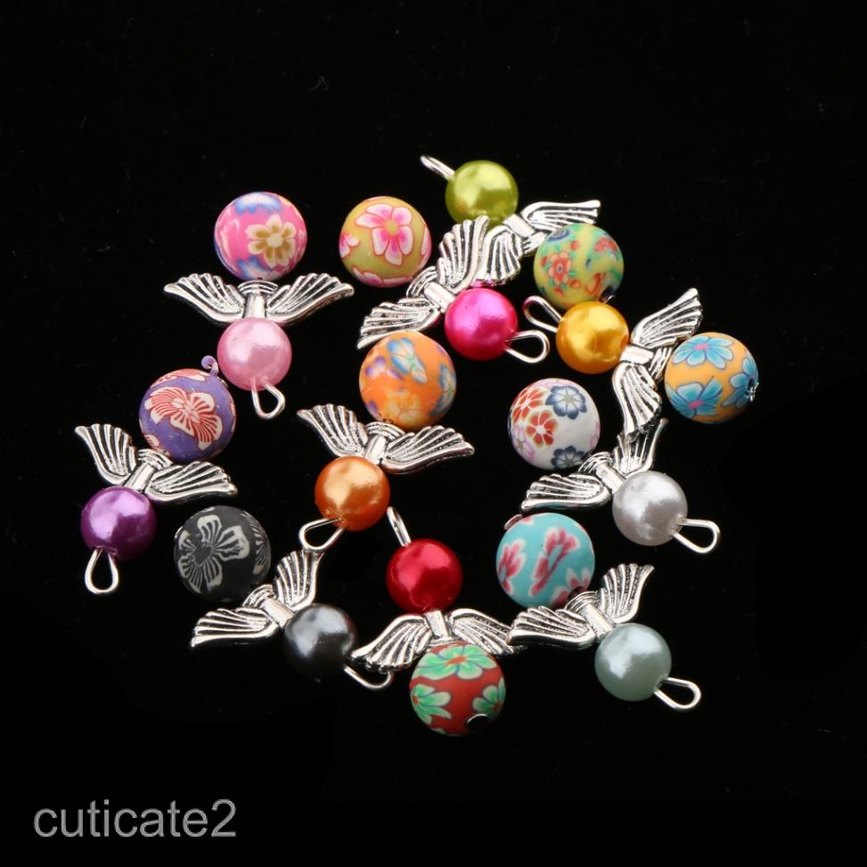 10//100Pcs Tibetan Silver fish Jesus Charms Dangle Beads Fit pendant Bracelet NEW