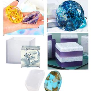 28 Pack Large Epoxy Resin Mold for Casting Paperweight Silicone Mold Resin
