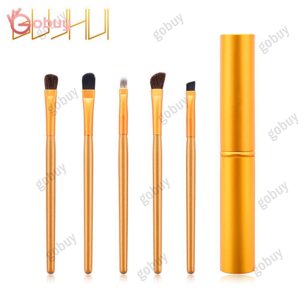 Portable 5 Pcs Set Eye Makeup Brush