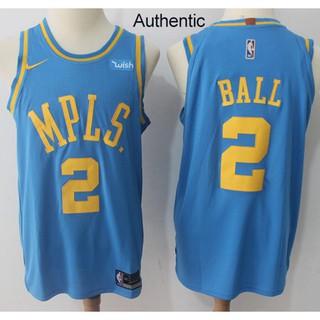 sports shoes 63054 8ebda Nice Nike Lakers #2 Lonzo Ball Royal Blue NBA Authentic ...