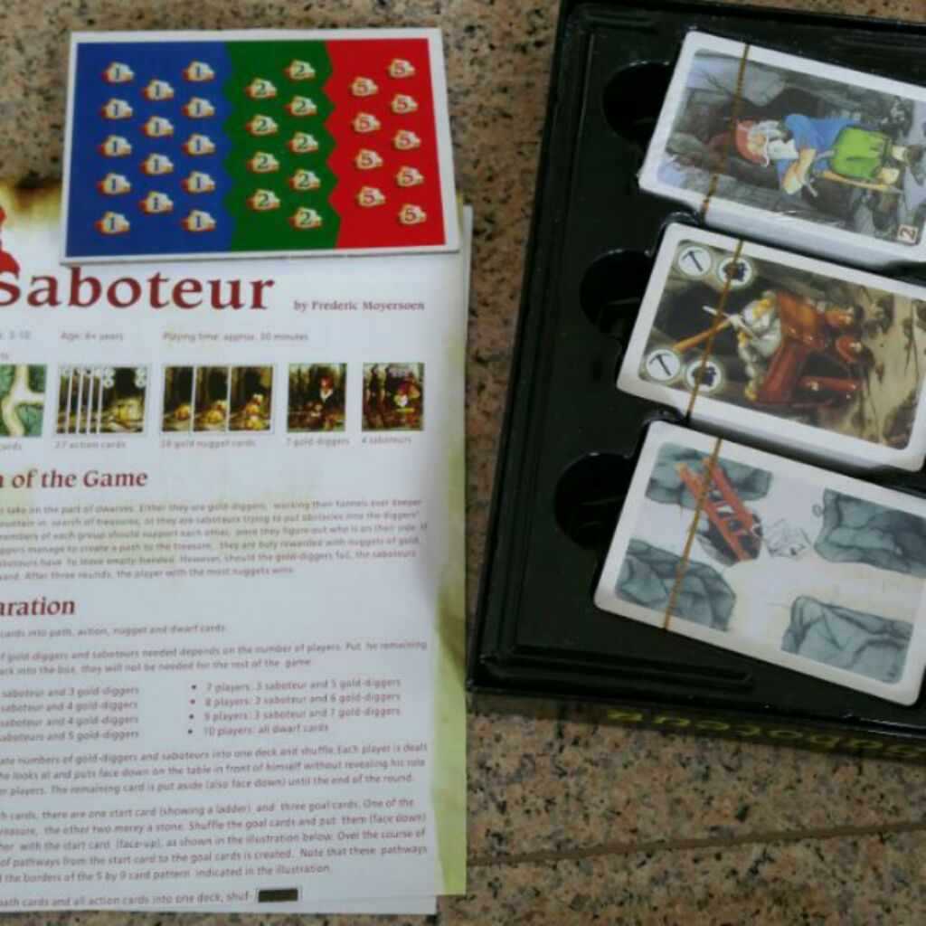 New Saboteur 12 Base W Expansion Strategy Mining Puzzle Card Board