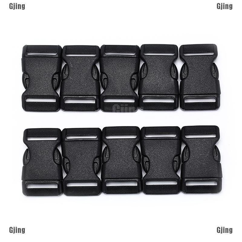 10x 25mm plastic side quick release buckles for webbing bag strap clips ZP