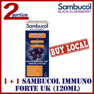 4a3741cefe90  1+1  2 x Sambucol Immuno Forte (UK Version) 120ml