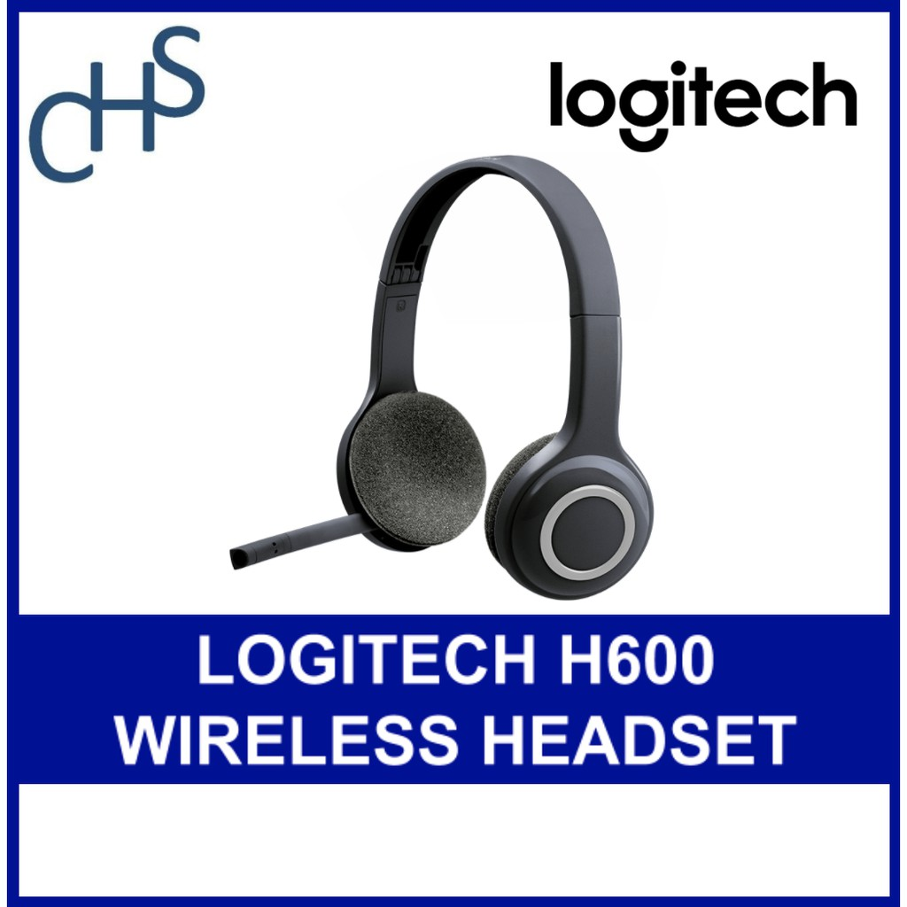 Logitech H600 Wireless Headset For Computers Via Usb Receiver 2 Years Warranty 981 000504 Shopee Singapore