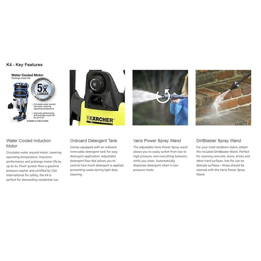 Karcher K4 Silent High Pressure Washer | Shopee Singapore