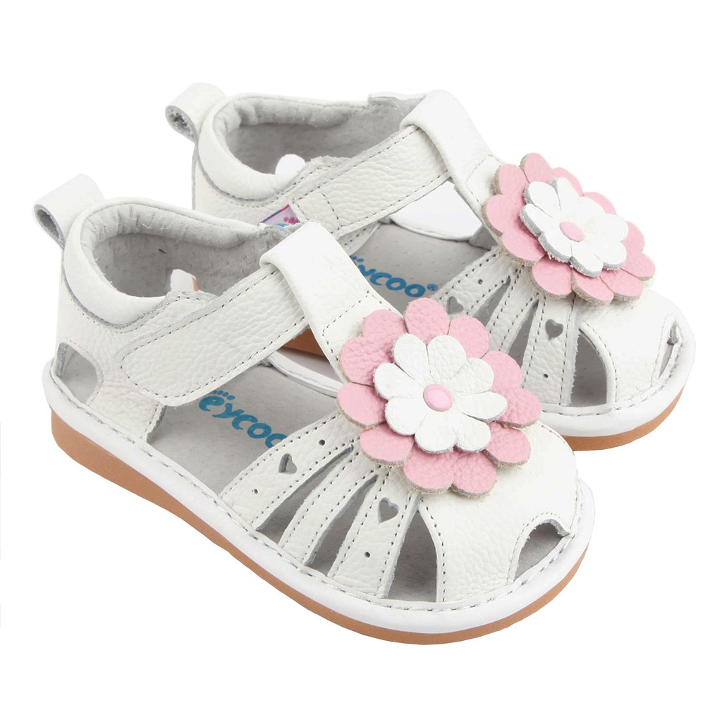 Freycoo -White Beatrice Squeaky Shoes