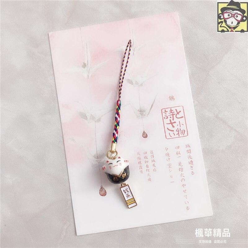 🧧SG~❤️In Stock❤️Ceramic Cute Fortune Cat Lucky Charm Phone Accessories Bag Pendent招财猫手机包包挂件
