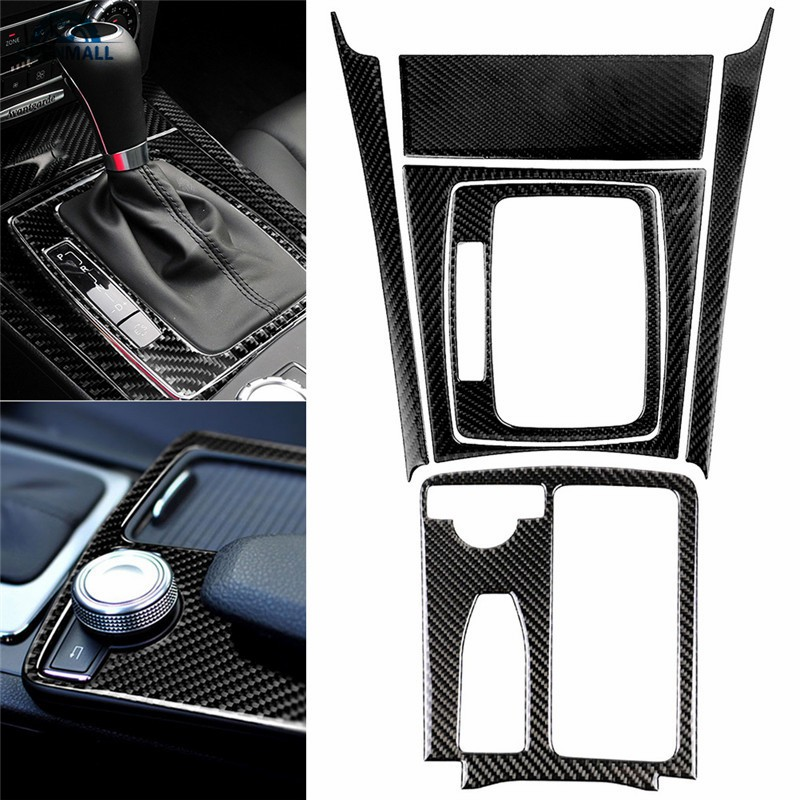 OM Carbon Fiber Central Control Panel Stickers Mercedes Benz W204 C Class  07-13 Car Interior Decor