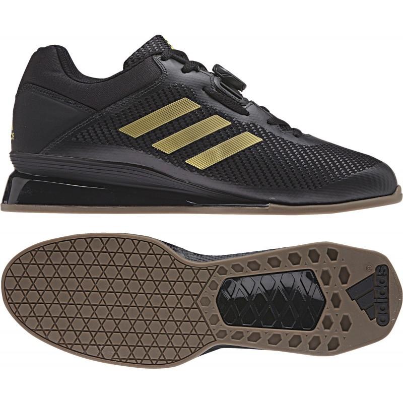 presión Rodeo Borrar  Adidas Black & Gold Leistung 16 2.0 Weightlifting / Powerlifting Shoes    Shopee Singapore