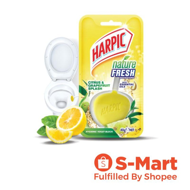 Harpic Nature Fresh 40g Citrus & Tea Tree Toilet Bathroom Cleaner
