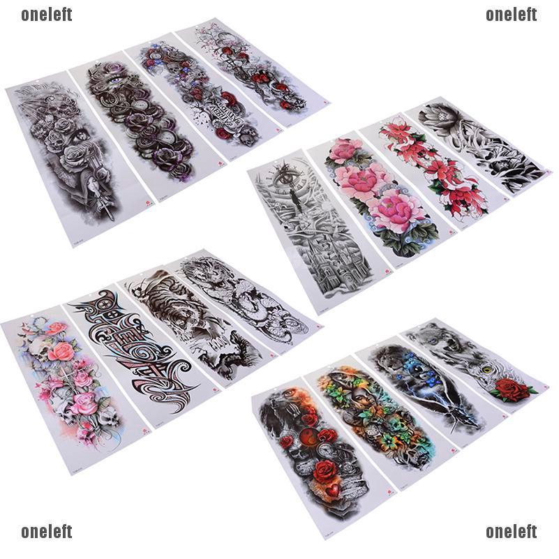 Transfer Fake Flash Tattoo Arm Sleeve Men Big Body Art Temporary Tattoo Sticker U2764oneleft Shopee Singapore