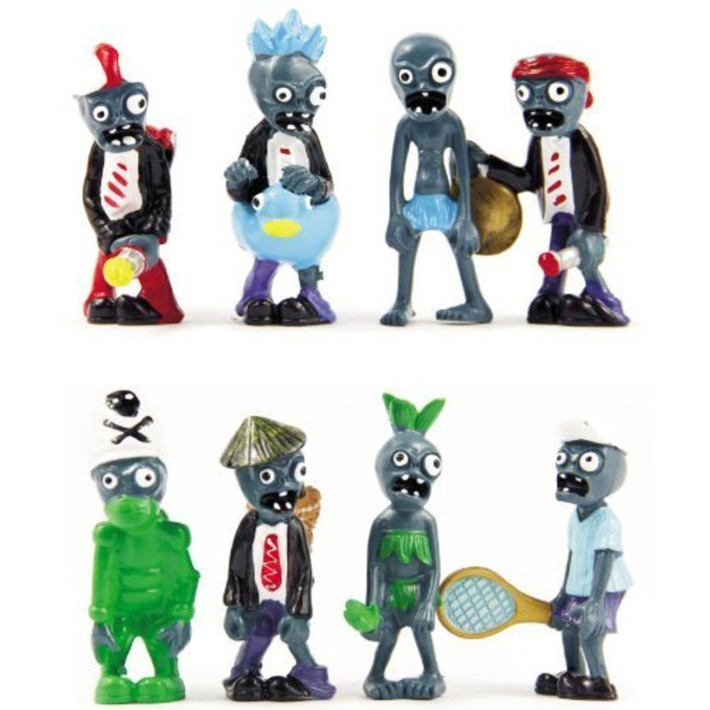16 x Plants vs Zombies Series Game Different Roles PVC  Figure Toy Xmas Gift