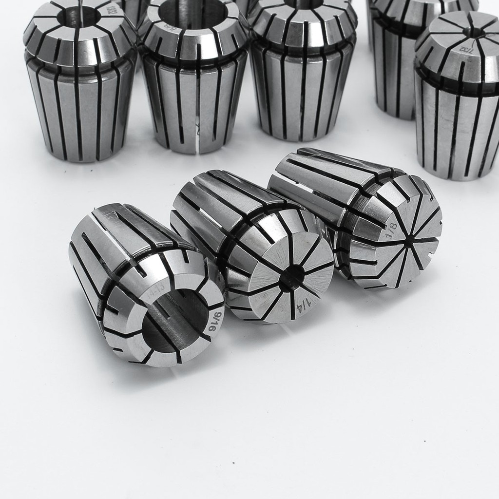 12Pcs Black ER16 Spring Collet Set For CNC Milling Lathe Tool Engraving Machine