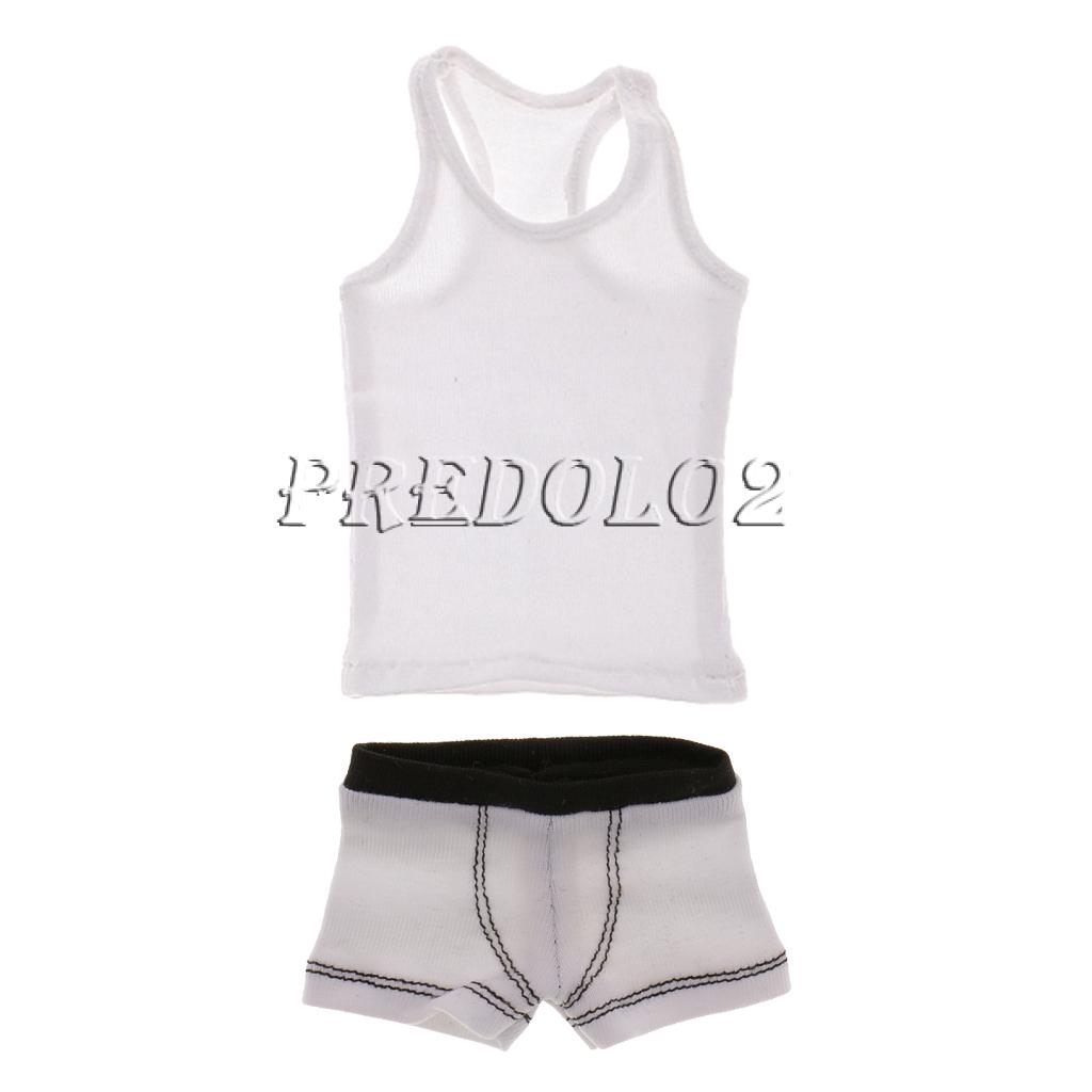 1:6 Soldier Underwear Briefs /& Slim Vest for 12inch Action Figure Hot Toys