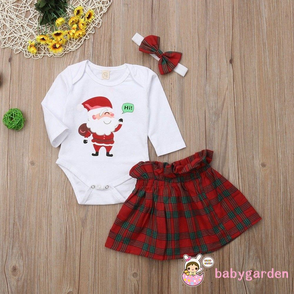 Christmas Tutu Outfits.Gng Baby Girls Cartoon Santa Romper Dress Christmas Tutu Skirt Outfits Xmas