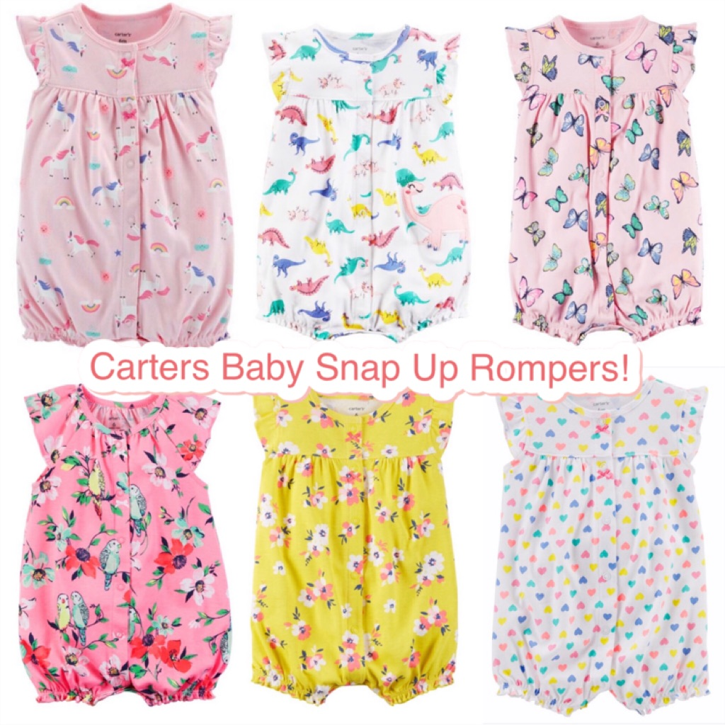 Bn Carters Baby Girl Snap Up Romper 6 24mths Avail Ready Stock