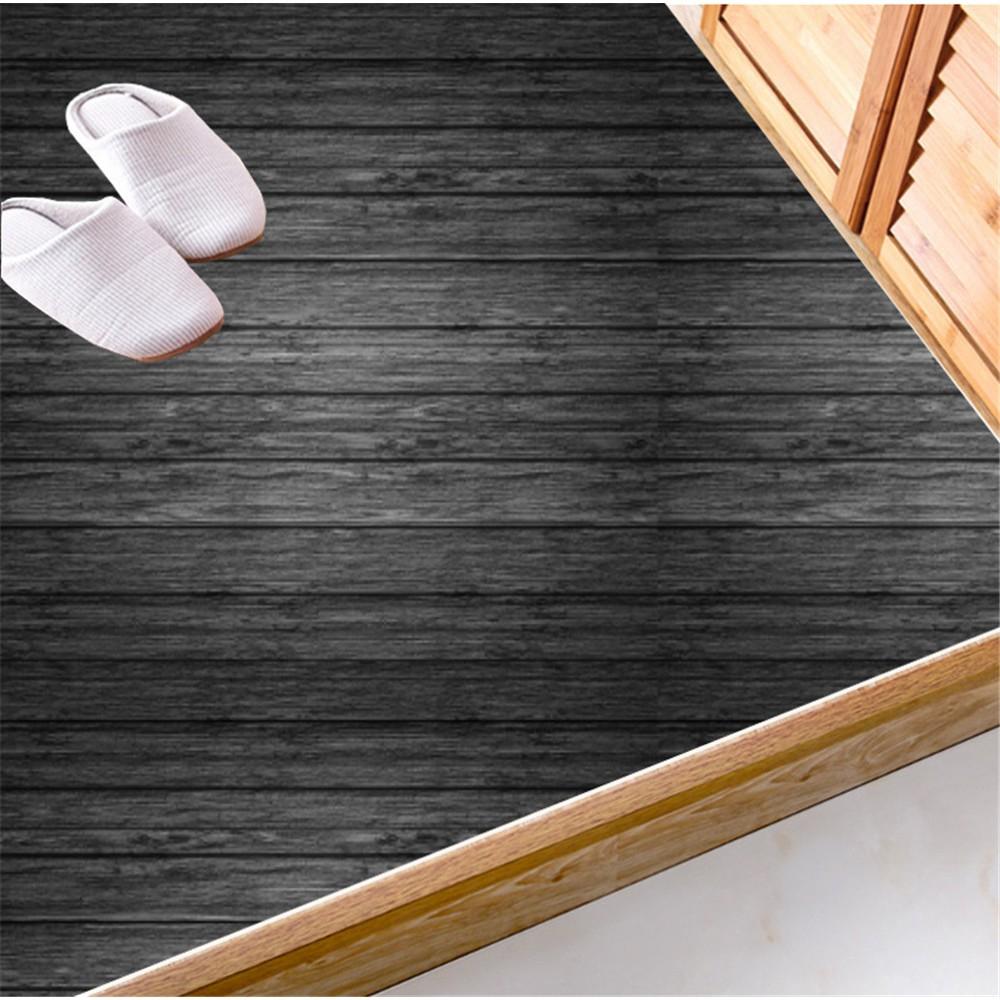 20pcs Black Wood Grain Wall Paper Floor, Laminate Flooring Paper