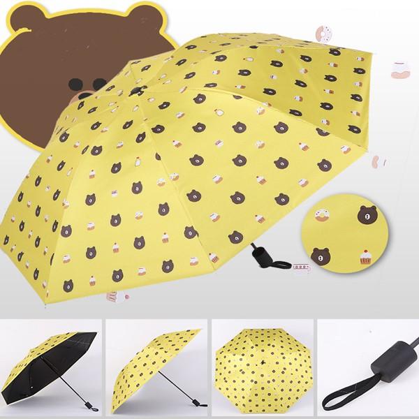 0f8cf1330644 Brown Bear Ultra-light Sun/Rain Umbrella Anti UV Folding Sunscreen