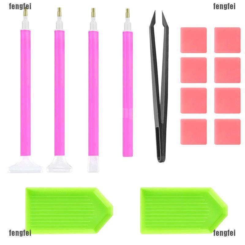 15x DIY Diamond Painting Drill Pen Cross Stitch Embroidery Tools Set Pen Tools X