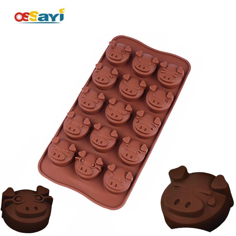 16 Holes Silicone Fondant Chocolate Mould Pig Shape Baking Tray Cake Decor Icing Sugarcraft Mold Baking Tools Useful and Practical