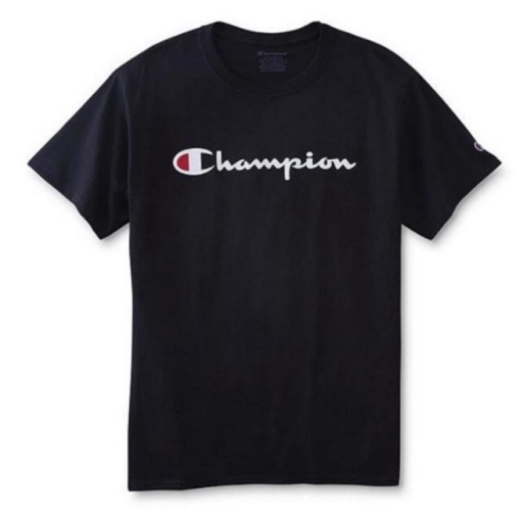 d77cef44 Champion Heritage Script Tee Black or White | Shopee Singapore