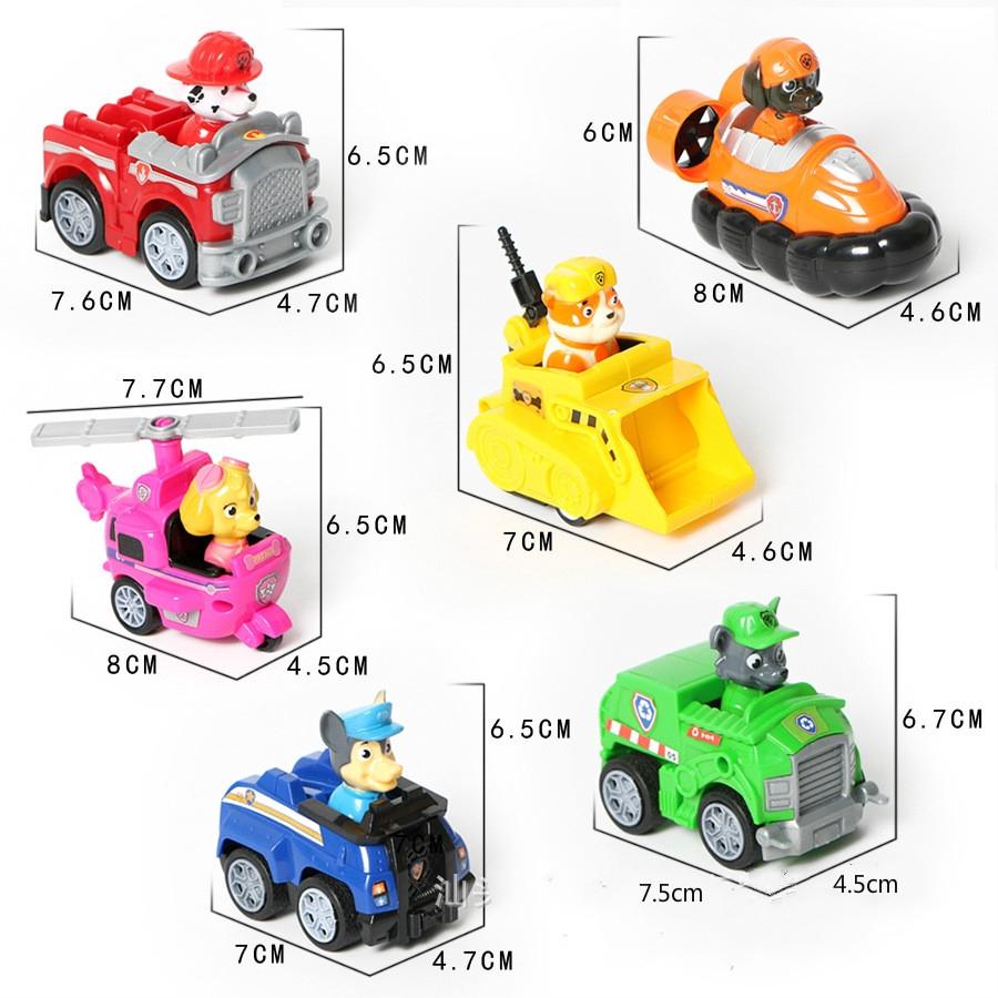 6-8cm Ryder Paw Dog Patrol Car Set Action Figure Kids Toys