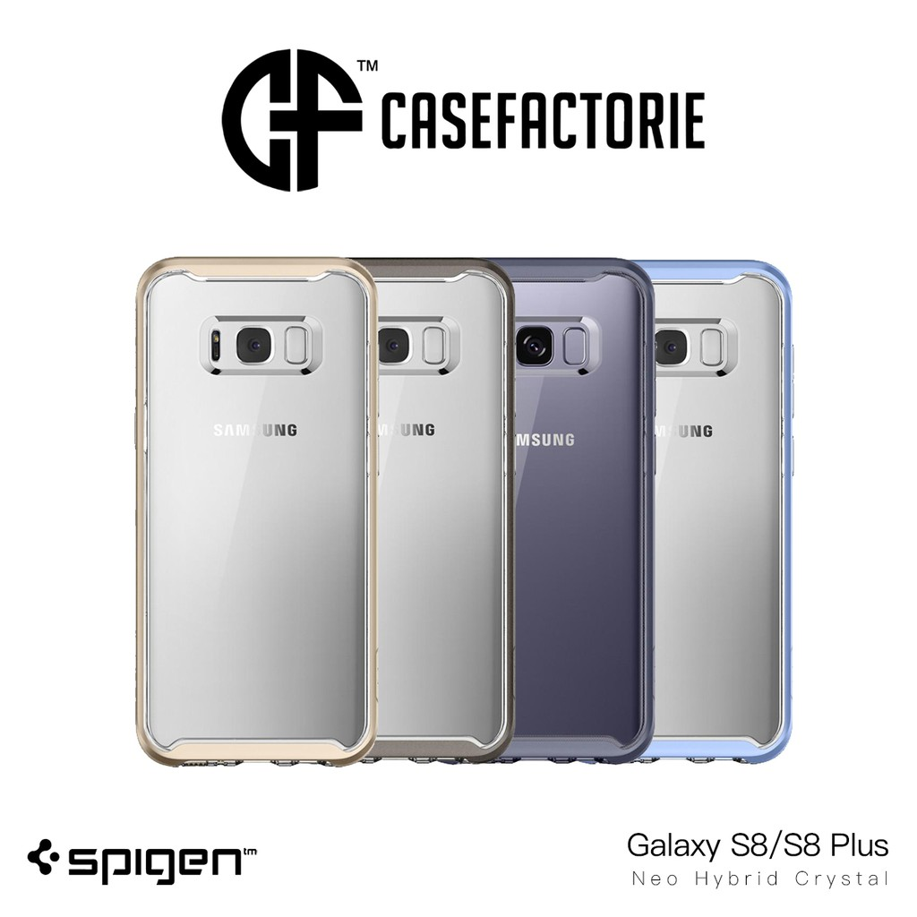 Spigen Neo Hybrid Series Case For Samsung Galaxy S8 Shopee Singapore Crystal Plus Gun Metal