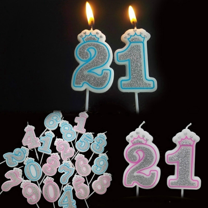 Numbers Candle Cake Candles Anniversary Party Kids Birthday Decor Ornaments 1pc