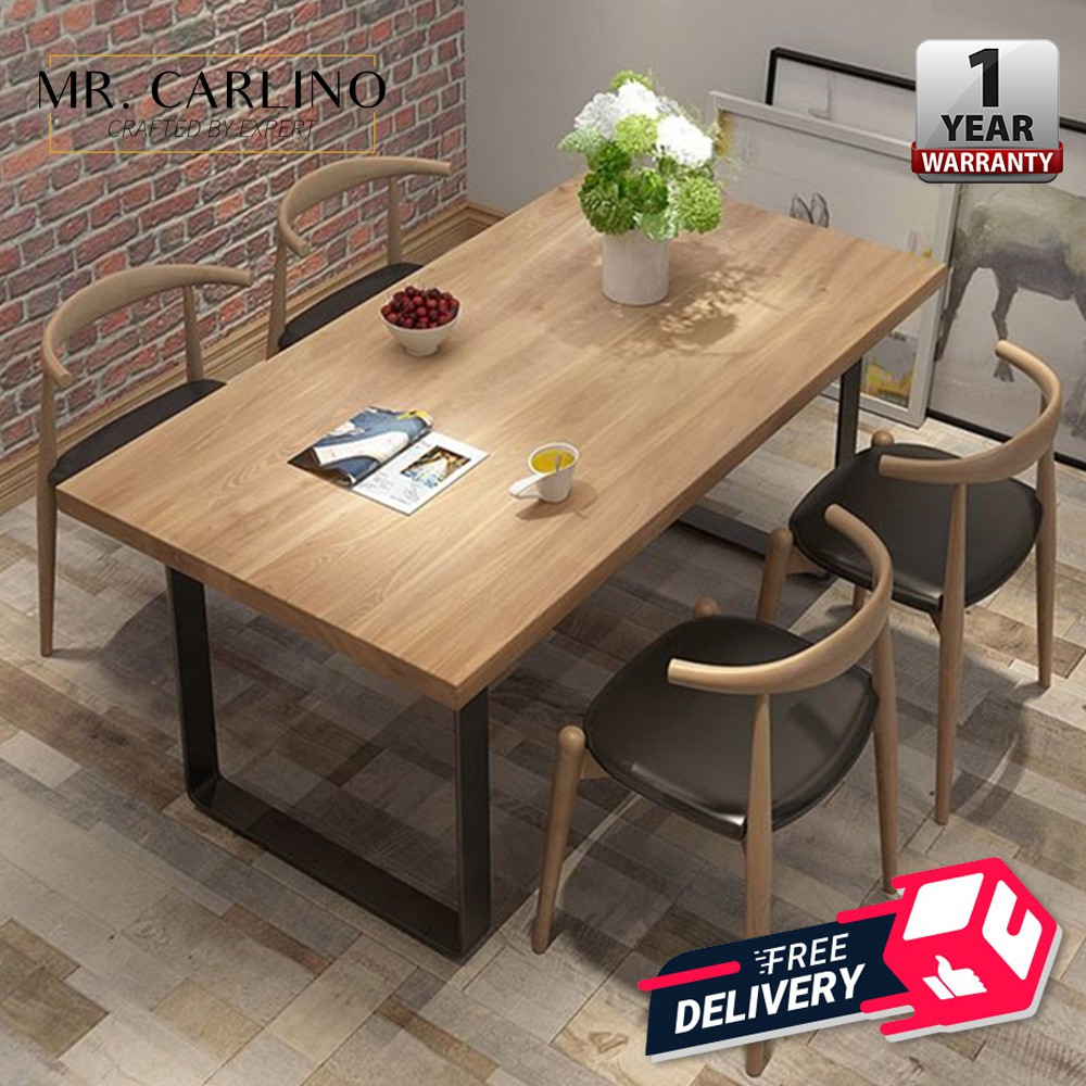 Burke Thick Solid Rubber Wood Dining