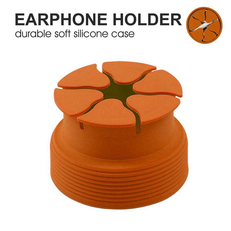 Silicone Mini Earphone Holder Carrying Case Winder Stretch Earbud Storage Bag