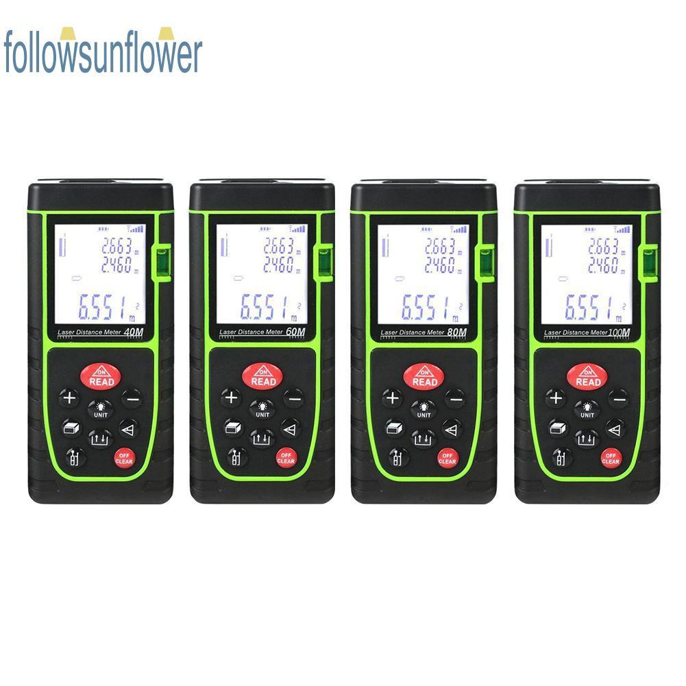 Waterproof Handheld Laser Distance Meter Rangefinder Building Measure  Device Ruler Test Tool