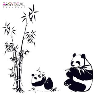 Panda mur vinyle bambou munching Art Decal pour décoration design intérieur //...
