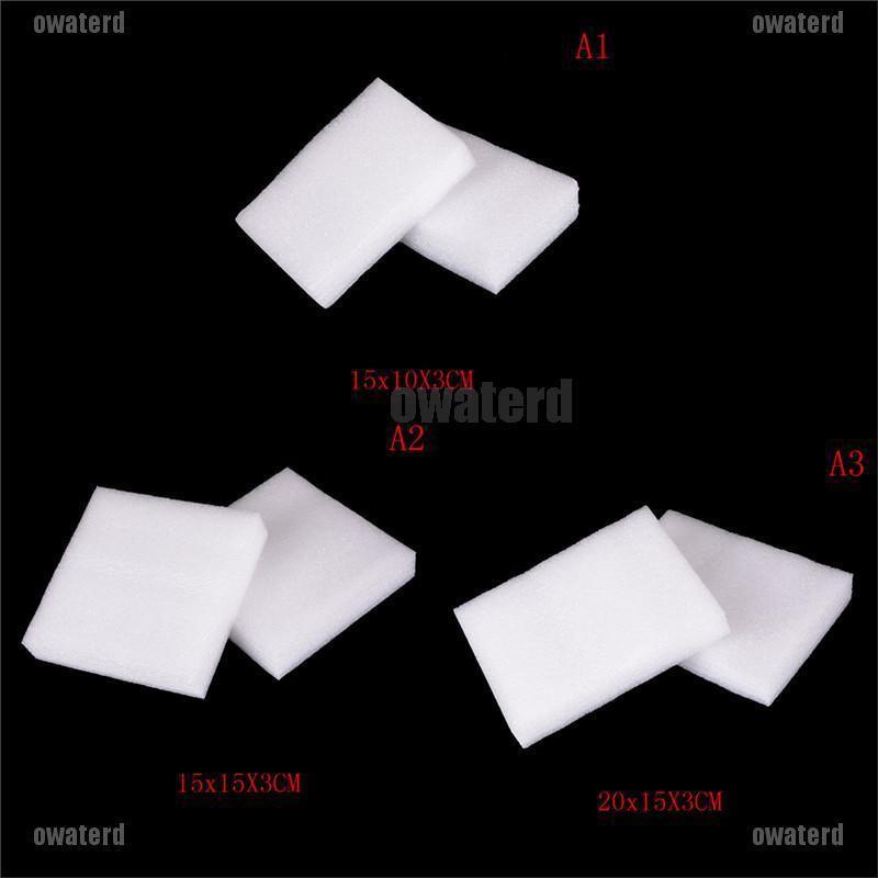 2PCS Felting Pad Needle Padding Foam Mat White Magic Stains Cleaning Sponge OI