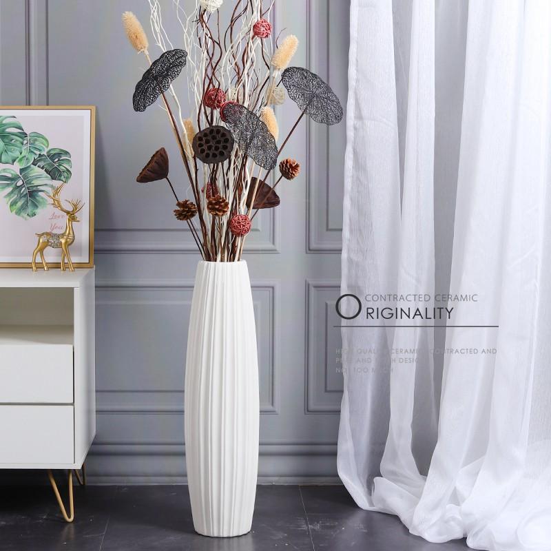 Á¹floor Vase Large Ceramic High Nordic Modern Minimalist Decoration Set Living Room Dried Flower Arrangement Xuanguang O Shopee Singapore