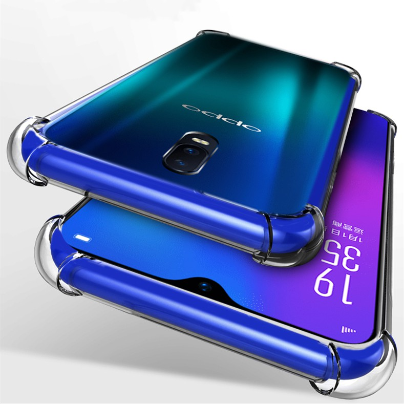 OPPO R17 Pro R15 R11s R11 Plus A77 Clear Soft Silicone Shockproof Rubber Case