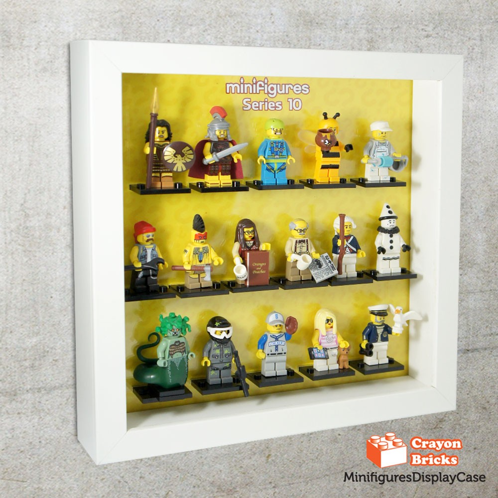 LEGO CMF Series 10 Minifigures Display Solution for IKEA Ribba Frame ...