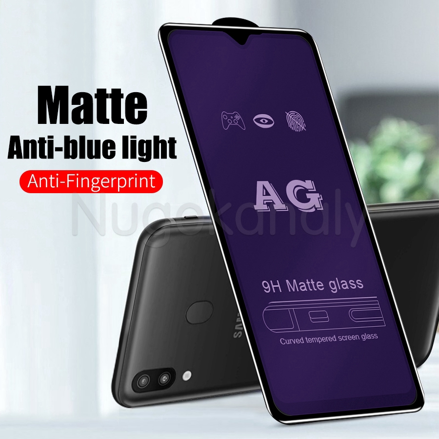 Screen Protector Protective 25 PCS AG Matte Anti Blue Light Full Cover Tempered Glass for Galaxy A70 Glass Film