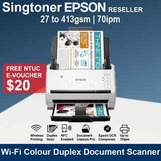 Epson DS-530 II Color Duplex Document Scanner for PC and Mac with Sheet-fed Auto Document Feeder ADF