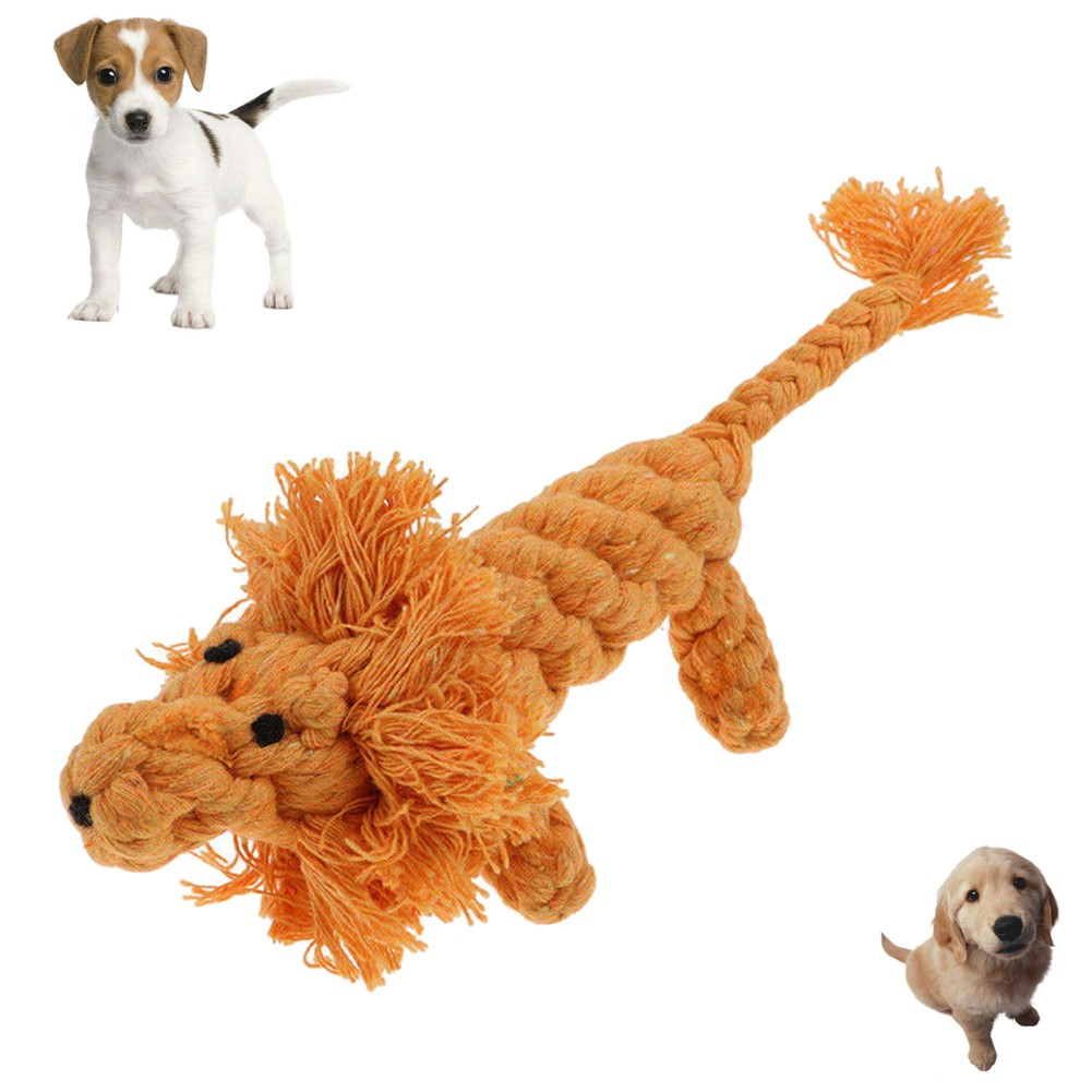 dd0d2c37162 Pet Tooth Chewing Training Toy Rope Lion