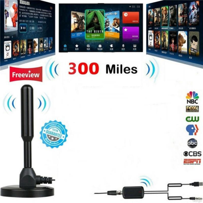 DIGITAL ANTENNA TV HDTV 300 MILES LONG RANGE HQ INDOOR ANTENA Freeview 4K 1080P