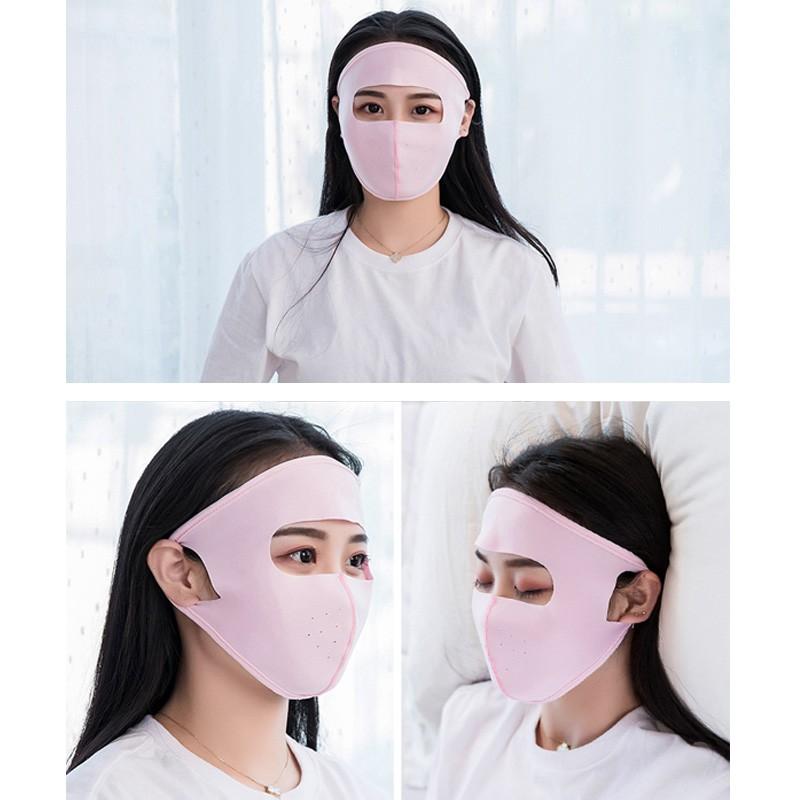 Sunscreen Summer Face Masks Ice Mask Reusable Silk Neck Scarf