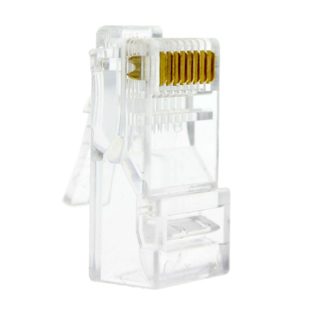 20Pcs Practical Internet Gold Plated Cable Modular Plug Adapter RJ45 8P8C CAT5E