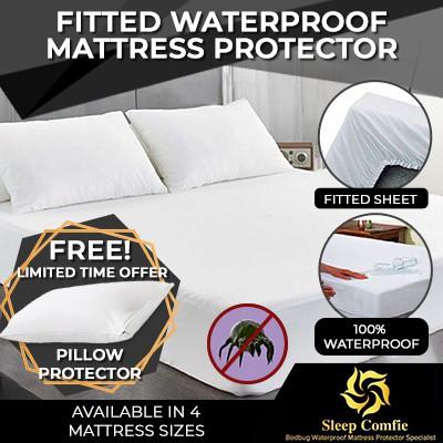 Lab Certified Bedbug Proof Mattress Cover Encasement Protector //free fittedsheet