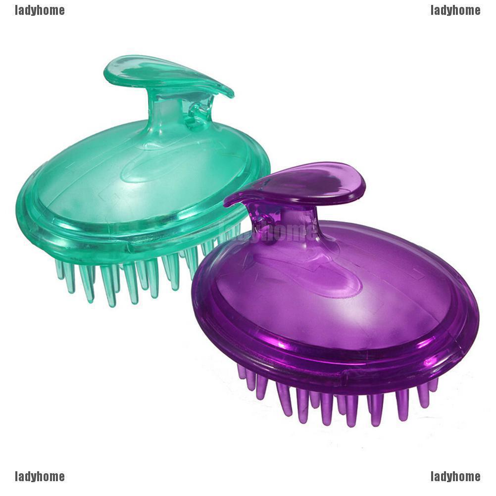 1 Pc Massager Brush Comb Silicone Shampoo Scalp Shower Body Washing Hair Massage Bath Spa Slimming Massage Brush Random Color 9 X 7cm