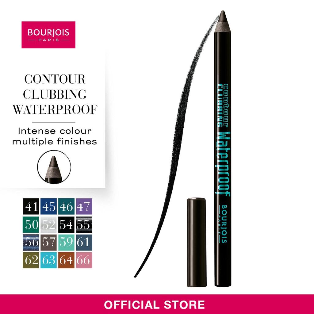 Bourjois Contour Clubbing Waterproof Eyepencil Shades 41 46 47 50 Eyeliner Liner Stylo 61 Ultra Black 52 54 55 56 Shopee Singapore
