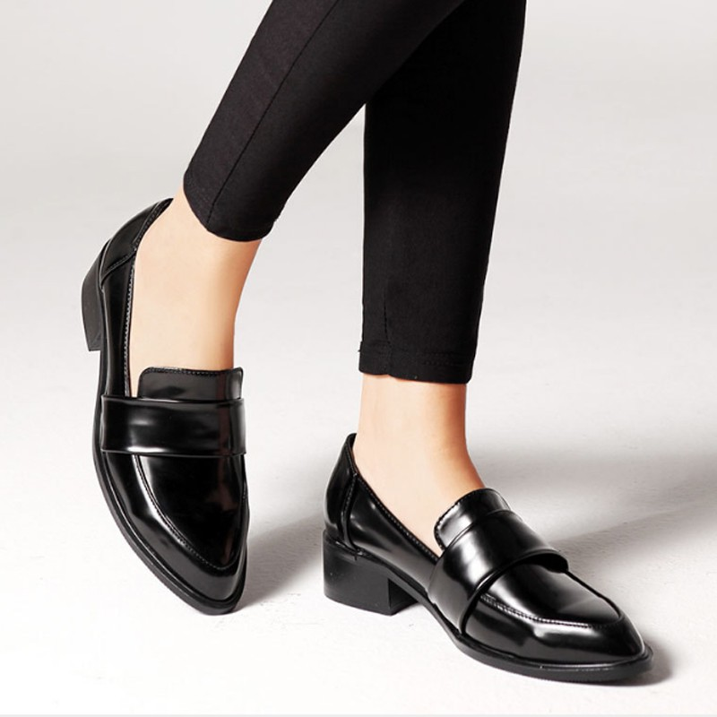Women's Loafers Spring Autumn Plus size Pointed Toe Office Lady Shoes |  Shopee Singapore