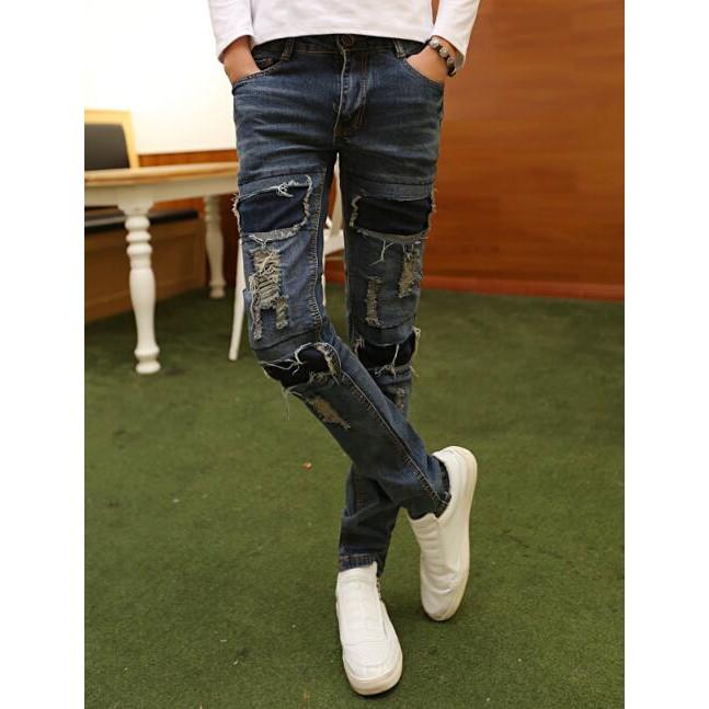 Men/'s Stylish Pants Straight Slim Fit Cotton Fashion Trousers Casual Jean Pants