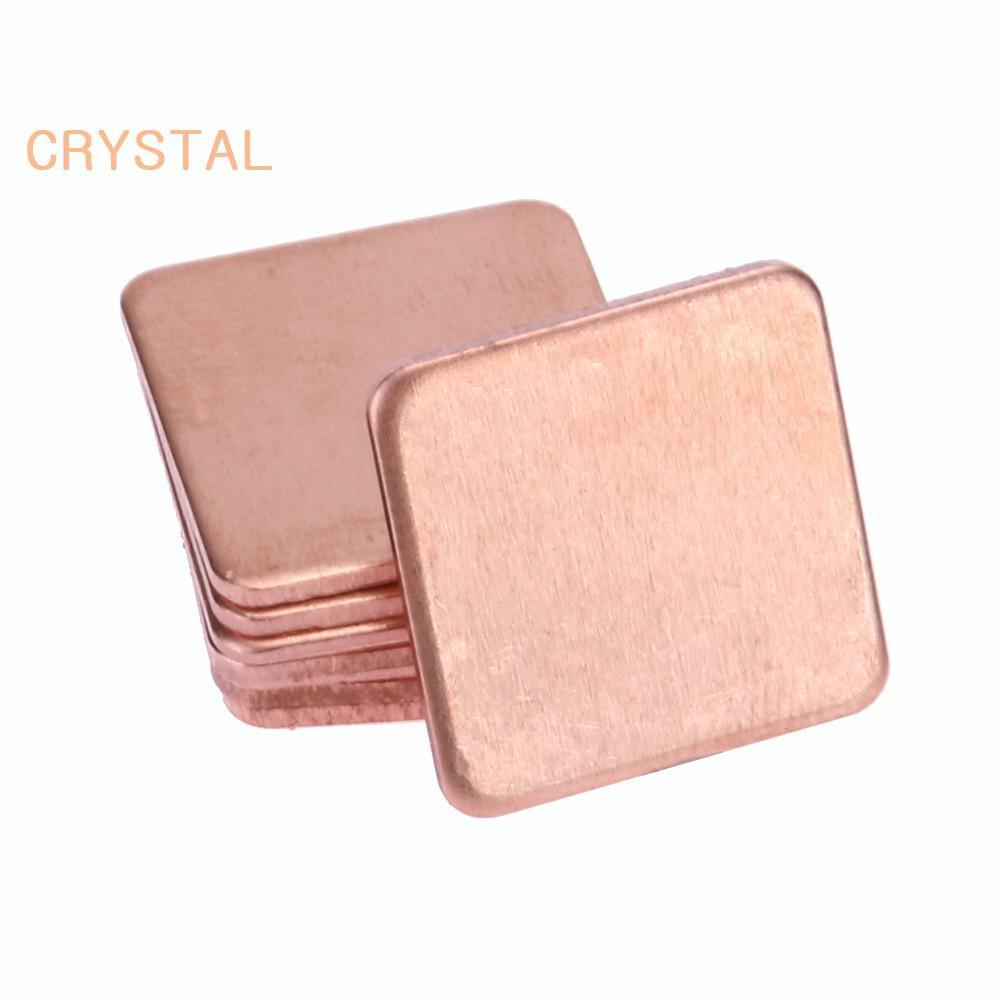 10x 15mm*15mm*0.5mm Heatsink Solution Thermal Pad Copper Shim For ASUS GPU VGA
