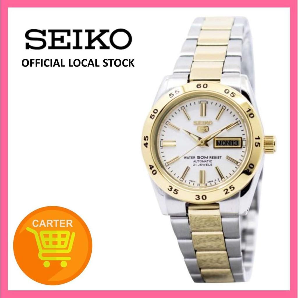 Seiko 5 Symg42 Symg42k Symg42k1 Automatic Two Tone Ladies Watch Shopee Singapore