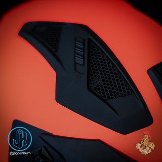 JPX HELM MX726R | RED FLUO BLACK DOFF | MX 726 R CROSSOVER ...